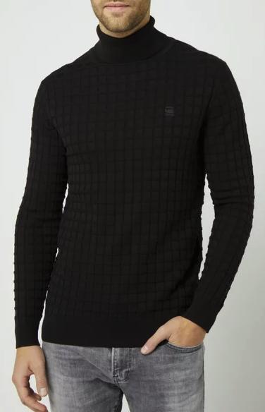 G-Star RAW Rollkragenpullover in schwarz für 37,49€inkl. Versand (statt 100€) - M und XL!