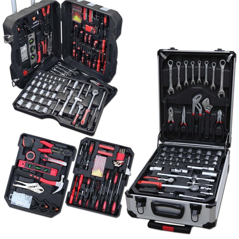 187-tlg. Julido Werkzeugkoffer im Alu Koffer oder Blow Case für 57,95€