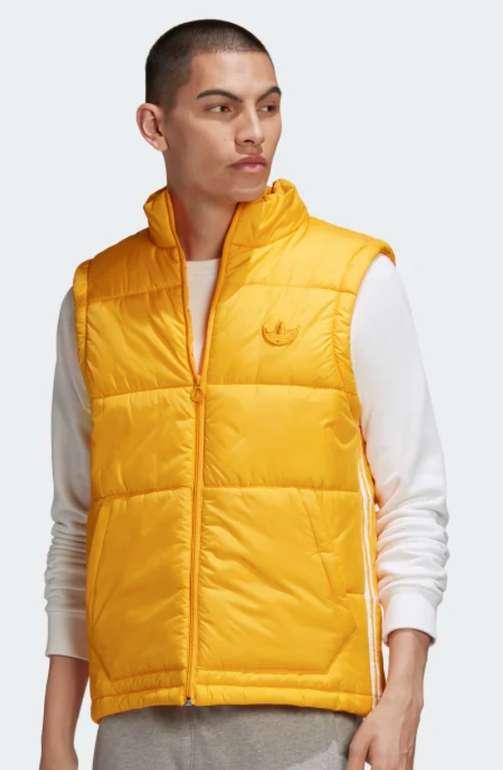 adidas Padded Puffer Herren Weste in gelb für 36,38€ inkl. Versand (statt 46€)