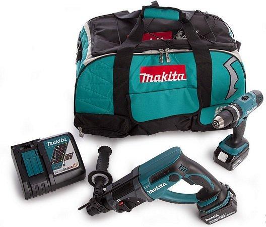 Makita Akku-Schlagbohrschrauber (DHP453) + Akku-Bohrhammer (DHR202) für 348,90€