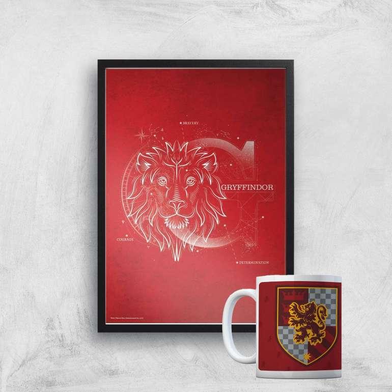 Harry Potter Bundle: 325ml Tasse + Kunstdruck (A4, 300g/m²) für 10,99€