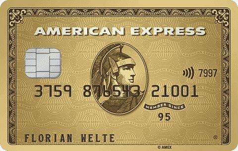 American Express Gold Card (12€/Monat) + Reise Versicherungen + 144€ Startguthaben + kostenlose Zweitkarte
