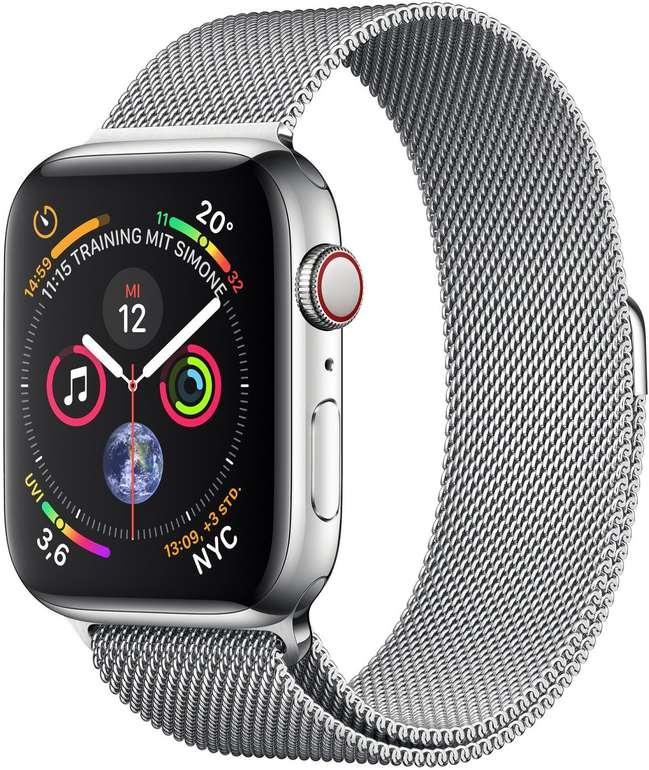 Apple Watch Series 4 LTE 44mm Edelstahlgehäuse mit Milanaise Armband für 524€ inkl. Versand