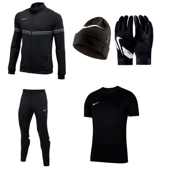 5-tlg. Nike Winterset (Trainingsjacke, T-Shirt, Hose, Mütze & Handschuhe) für 72,95€ inkl. Versand