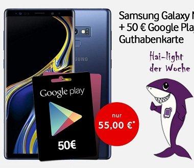 Vodafone Smart L+ mit 7GB LTE + Note 9 + 50€ Google Play Guthaben zu 36,99€ mtl.
