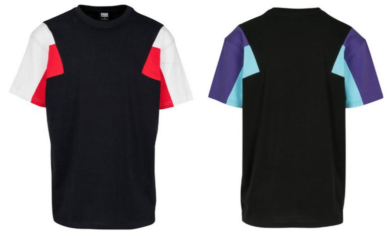 Urban Classics T-Shirt in navy / rot / weiß für 8,91€ inkl. Versand - Größe M & XL