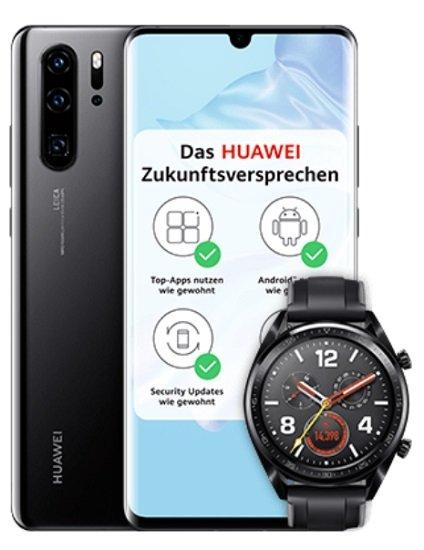 Huawei P30 Pro + Huawei GT (+49€) inkl. o2 Free M Boost Allnet-Flat mit 40GB LTE für 34,99€ mtl.