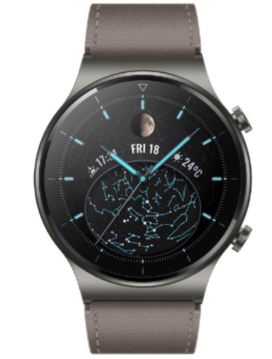 Huawei Watch GT 2 Pro + Huawei AH100 Körperanalysewaage + Leather Strap Armband für 199€ (statt 238€)