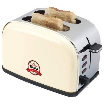 Bestron Toaster ATS100RE in Creme (2 Scheiben, 1000 Watt) für 28,98€ inkl. VSK