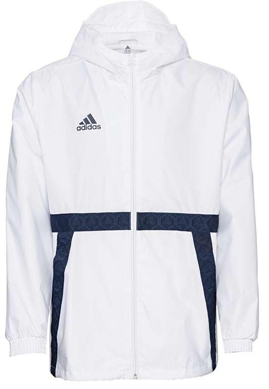 adidas Tango Herren Windbreaker in Weiß/Blau für 38,94€ inkl. Versand (statt 50€)