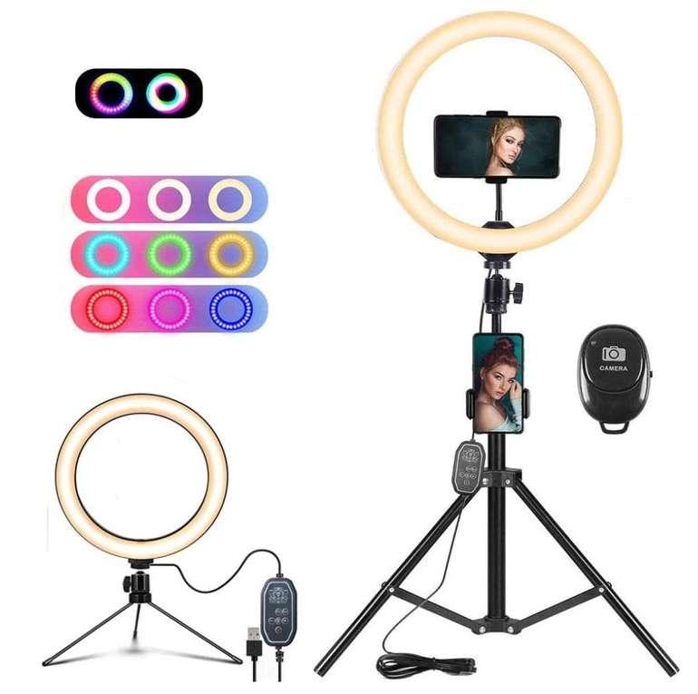 Nacot Selfie Ringlicht mit Stativ und 150 LEDs für 34,99€ inkl. Versand (statt 50€)