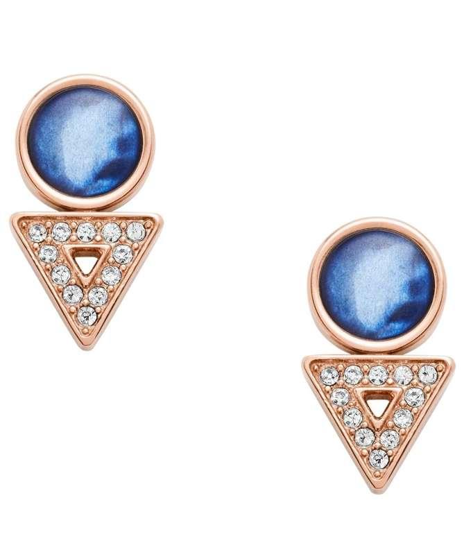 "Fossil Damen Ohrringe ""Geometric Rose Gold-Tone"" (JF03009791) für 14€ inkl. Versand (statt 23€)"