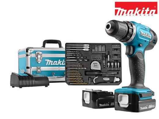 Makita DDF343SYX3 - 14 V Akku-Bohrschrauber im Koffer mit Zubehör für 185,90€ (statt 210€)