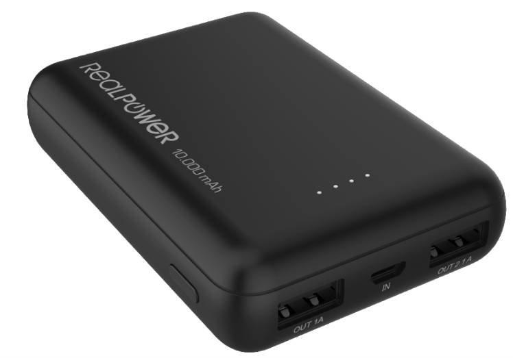 Realpower PB-10000mini HD Powerbank mit 10.000mAh für 13,99€ inkl. Versand