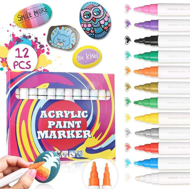 Joseko Acrylstifte (12 Farben, wasserfest) für 11,99€ inkl. Prime Versand (statt 20€)