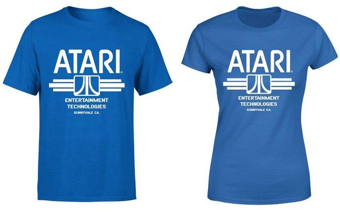 Atari Ent Tech T-Shirt - Royal Blau für 10,99€ inkl. VSK