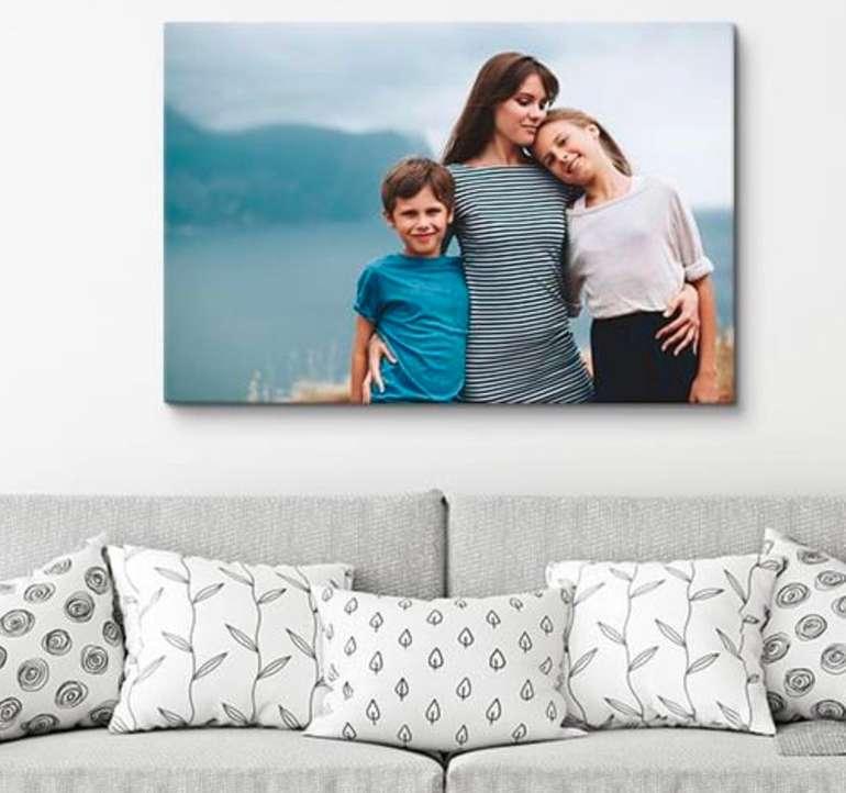 Wunschbild auf Leinwand - 90x60 cm, 2cm dick für 15,45€ inkl. Versand (statt 32€)