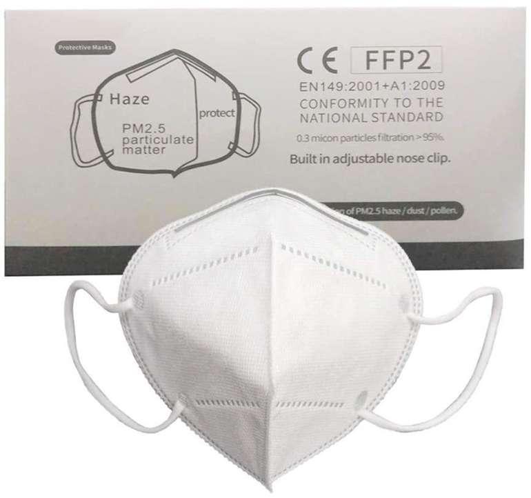 Markthym - 5 Lagige FFP2 / KN95 Masken (Mund-Nasen-Schutz) im 10er oder 50er Pack für 4,49€ bzw. 13,97€