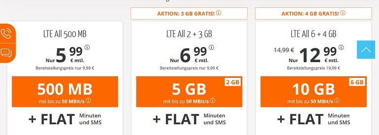 Sim.de o2 Allnet-Flat mit 10GB LTE Datenvolumen