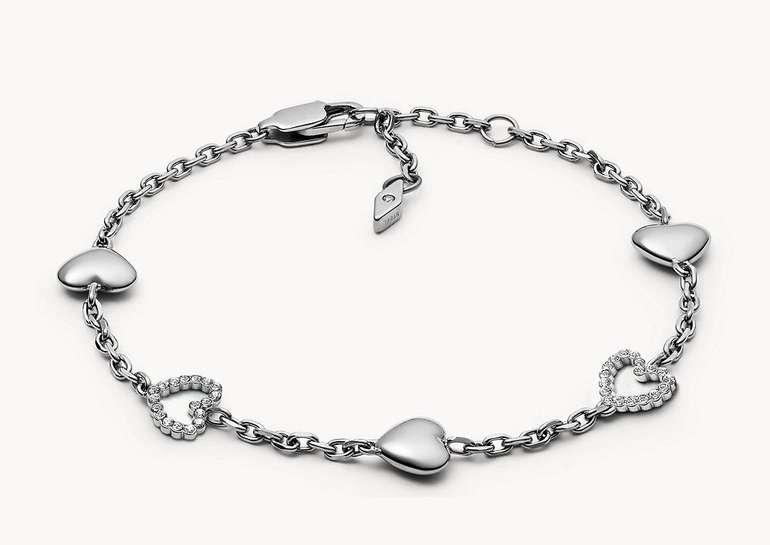 Fossil Damen Armband Open Heart Bracelet (JOF00458040) für 23,80€ inkl. Versand (statt 34€)