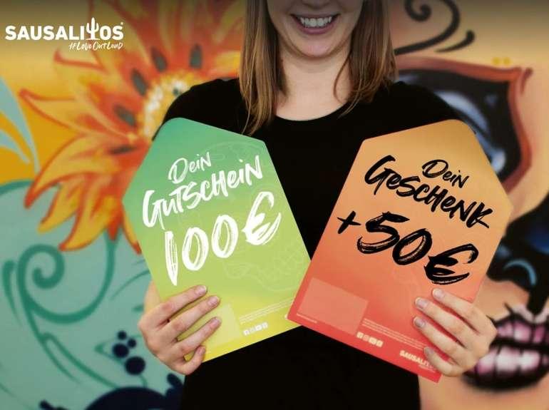Sausalitos: Wertgutschein kaufen + 50% on Top, z.B. 150€ für 100€