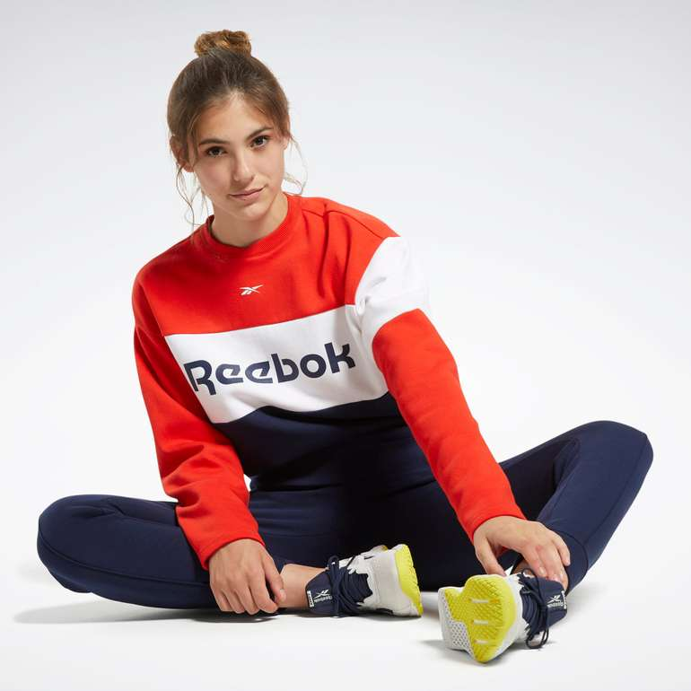 Reebok Linear Logo Crewneck Track Suit für nur 44,32€ (statt 52€)