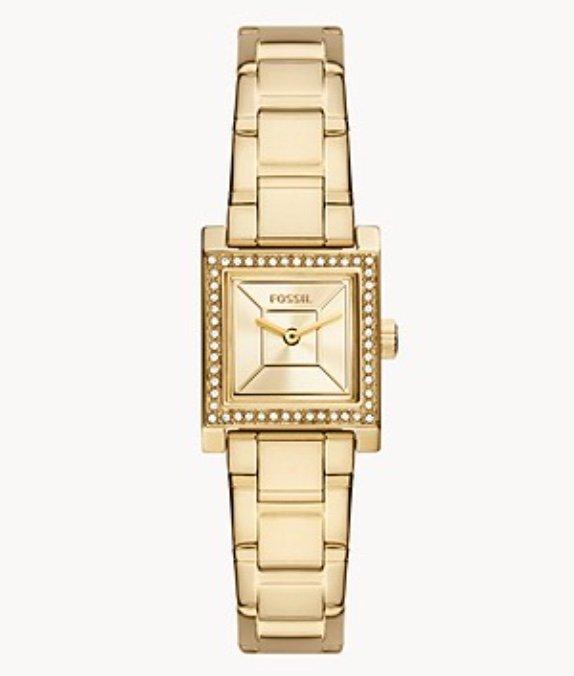 Fossil Edan BQ3714 - Damen Armbanduhr (2-Zeiger-Werk, Edelstahl, goldfarben) für 77,70€ inkl. Versand