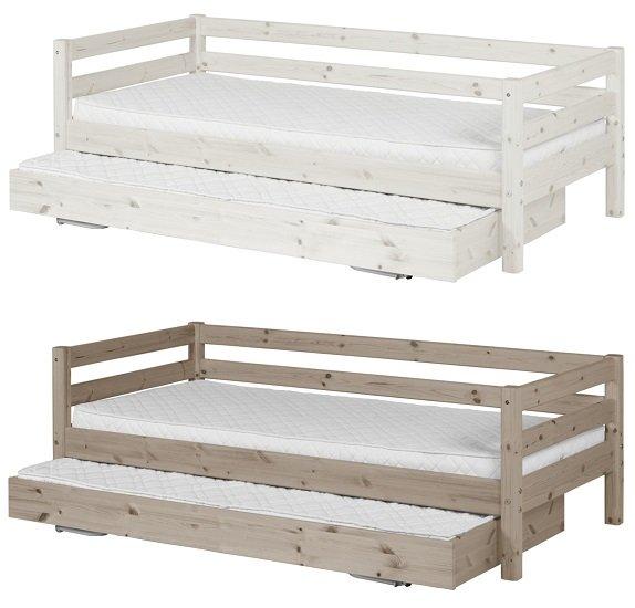 Flexa Classic Bett mit extra Ausziehbett in zwei Farben (90cm x 190/200cm) für 321,30€ inkl. VSK