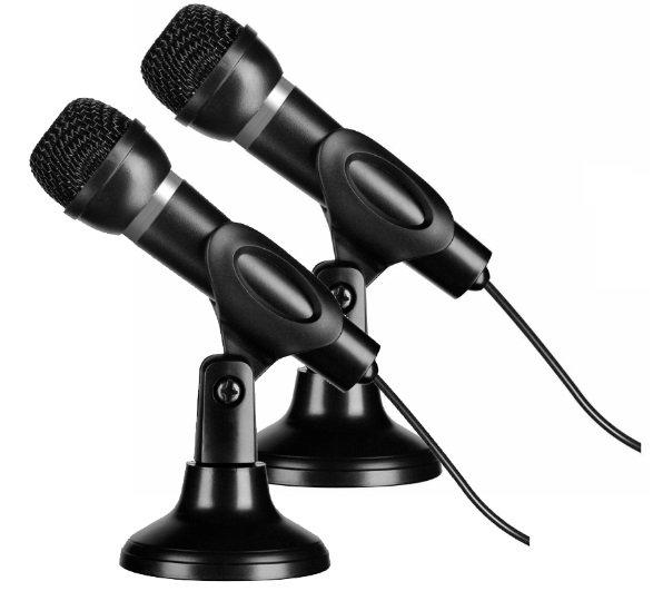 Doppelpack Speedlink SL-8703 Tischmikrofone mit Stativ für 9,99€ inkl. VSK (statt 26€) - B-Ware!