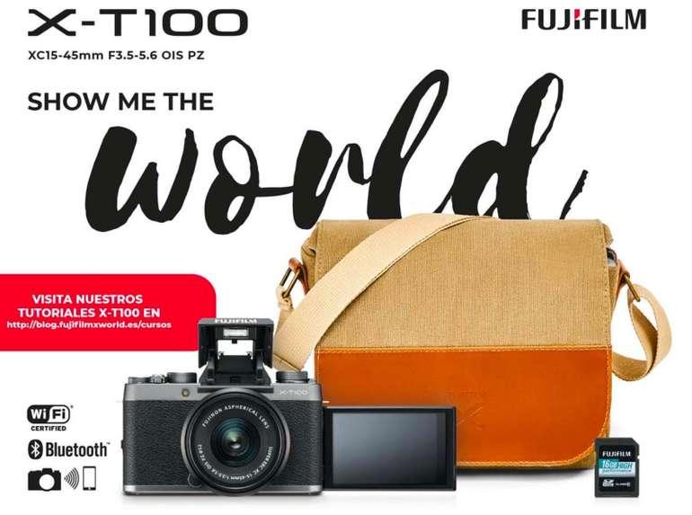 Fujifilm X-T100 Systemkamera mit Fujinon XC15-45F3,5-5,6 Objektiv