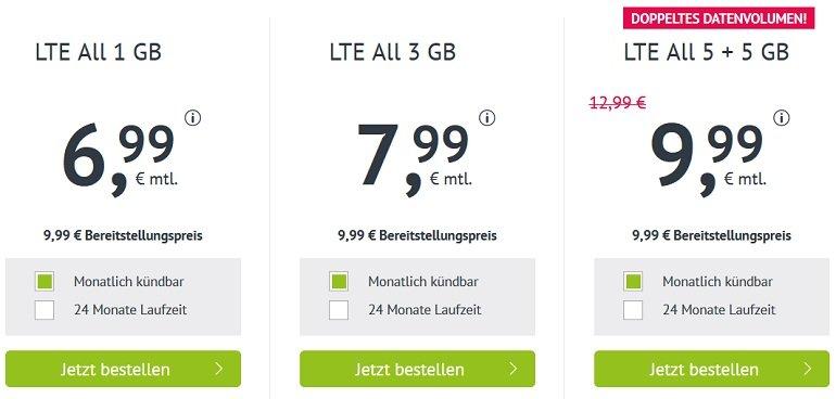 o2 Allnet & SMS Flat mit 10GB LTE 2