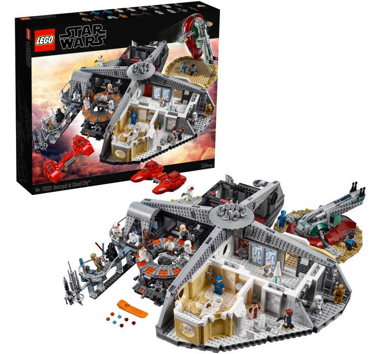 Lego Star Wars 75222, Verrat in Cloud City für 254,99€ inkl. VSK (statt 309€)