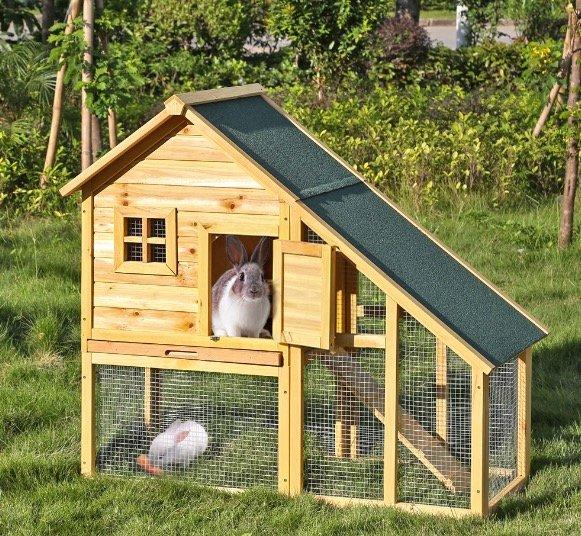 Großer Kaninchenstall / Meerschweine (wasserdicht) 1,40m für 43,67€ mit Versand