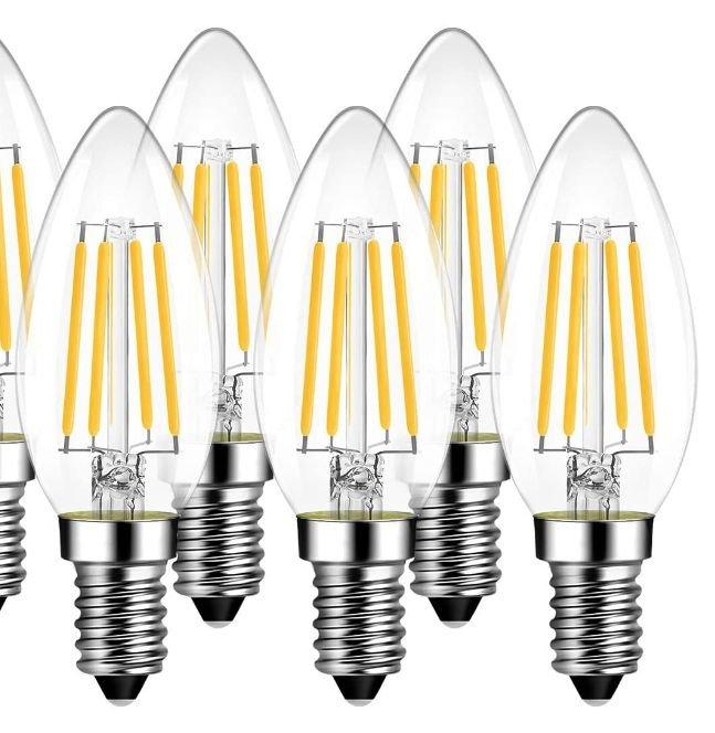 6er Pack LVWIT E14 Kerzen LED Lampen für 9,99€inkl. Prime Versand (statt 12,99€)