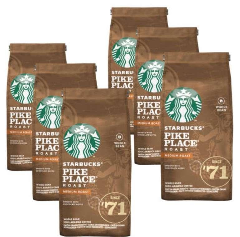 Starbucks Pike Place Roast Kaffeebohnen (6x 200g, ganze Bohnen) für 19,95€ inkl. Versand (statt 27€) - MHD!