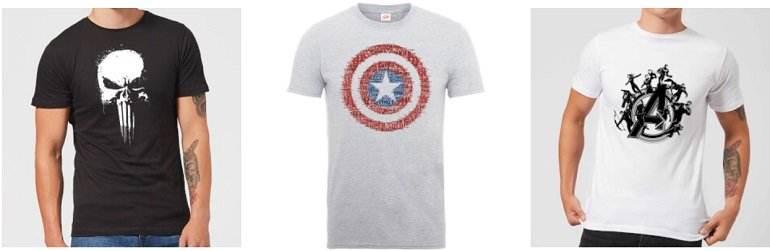 10 verschiedene Marvel T-Shirts 2