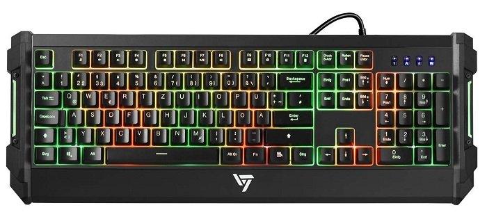 Victsing Gaming Tastatur mit RGB Beleuchtung für 11,99€ mit Prime