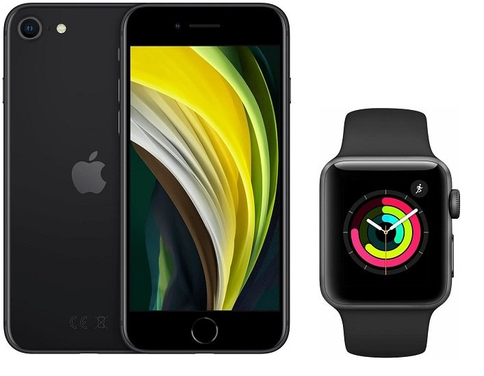 Apple iPhone SE (2020) 64GB + Apple Watch Series 3 GPS (+49,95€) inkl. Vodafone Allnet-Flat mit 15GB LTE für 36,99€ mtl.