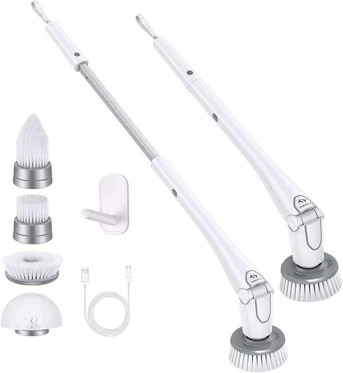 Tilswall elektrische Reinigungsbürste (4 Bürstenköpfe, Fugenreiniger) für 32,39€ inkl. Versand (statt 54€)