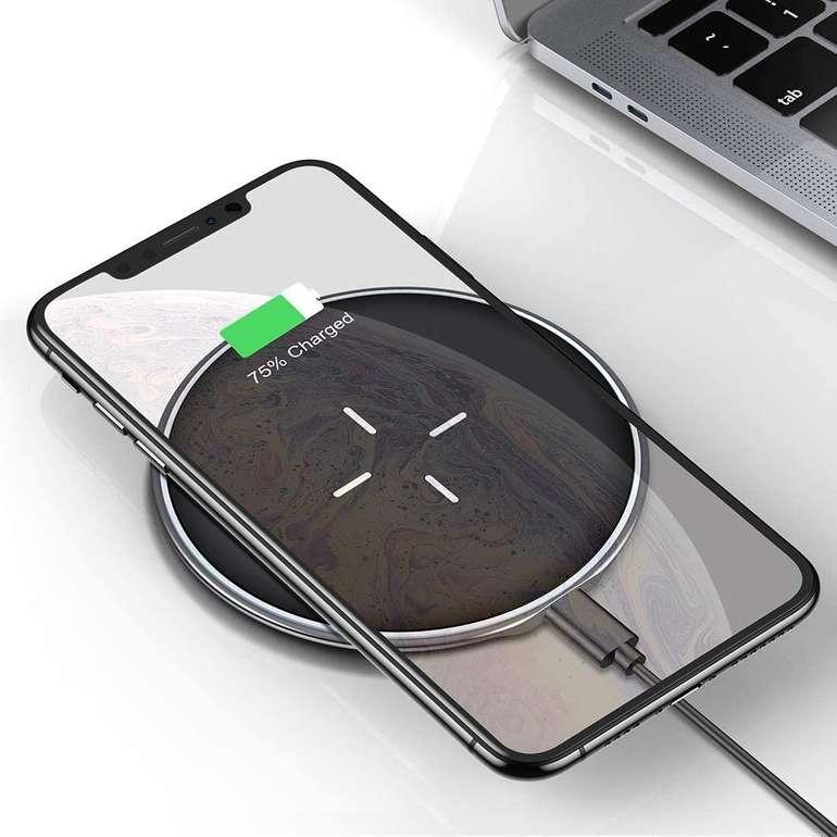 Vanmass Wireless Charger (Qi-zertifiziert, 10W) für 14,49€ inkl. Prime Versand (statt 27€)