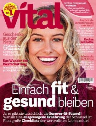 """3 Ausgaben der Zeitschrift """"Vital"""" für 7,20€ + 10€ Gutschein für Amazon"""