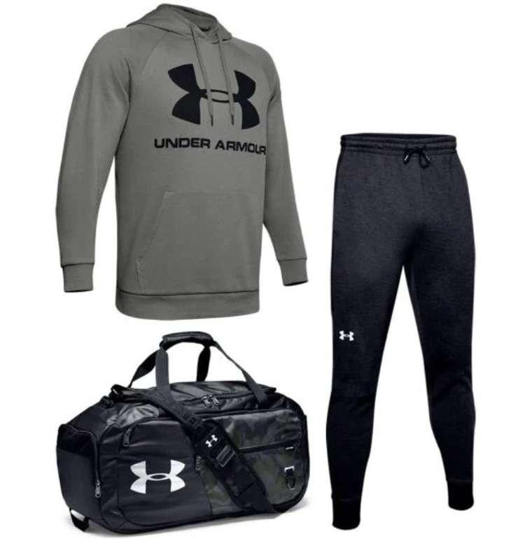 3-tlg. Sportliches Under Armour Set (Hoody, Jogginghose und Sporttasche) für 77,95€ inkl. Versand