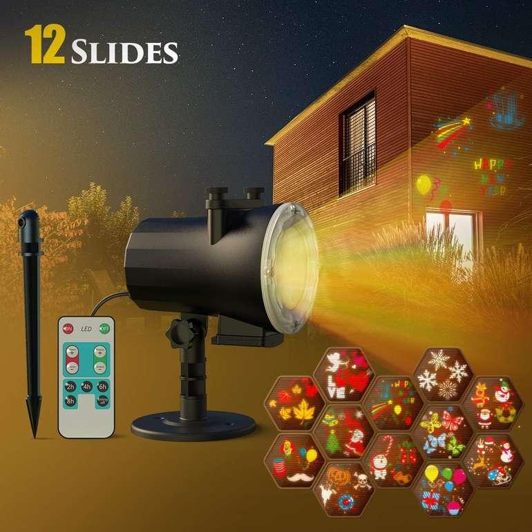Cacagoo LED Projektor mit 12 Motiven für 19,99€ (Prime)
