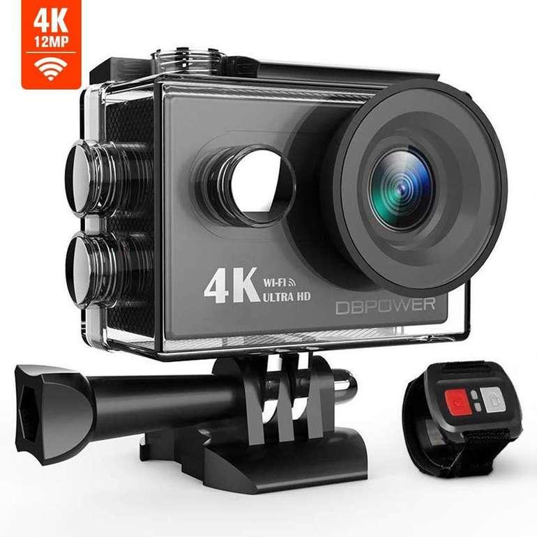 """DBPower 4K Action Cam mit 2"""" Display & WiFi für 17,99€ inkl. Prime Versand"""