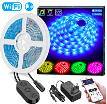 Minger 5M RGB LED Stripes mit WiFi (wasserdicht, 150 LEDs) für 17,99€ mit Prime