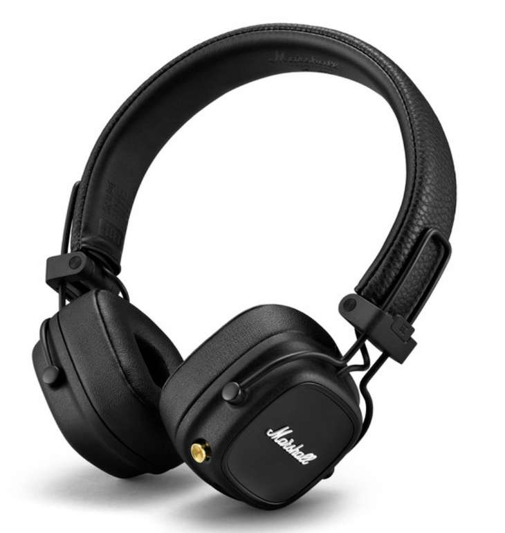 Marshall Major IV Bluetooth Black On-Ear Kopfhörer für 99,99€inkl. Versand (statt 117€)
