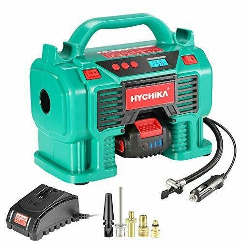 Hychika Luftkompressor (12V, Luftpumpe, Max 11 bar, 2.0A Akku) für 44,50€ inkl. Versand (statt 63€)