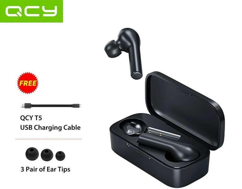Xiaomi QCY T5 TWS Bluetooth Kopfhörer für 26,99€ inkl. Versand (statt 30€)