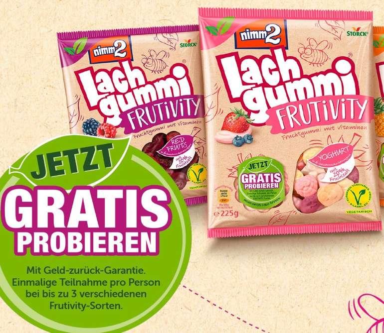 Cashback: nimm2 Lachgummi Frutivity (vegetarisch) kostenlos testen dank Geld-zurück-Garantie (GzG)