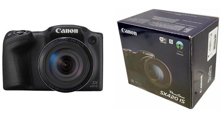 Canon PowerShot SX420 IS Bridge-Kamera (20MP, 42x opt. Zoom) für 159,99€